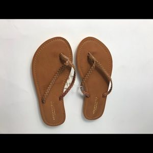 Brown Aeropostale Flip Flops